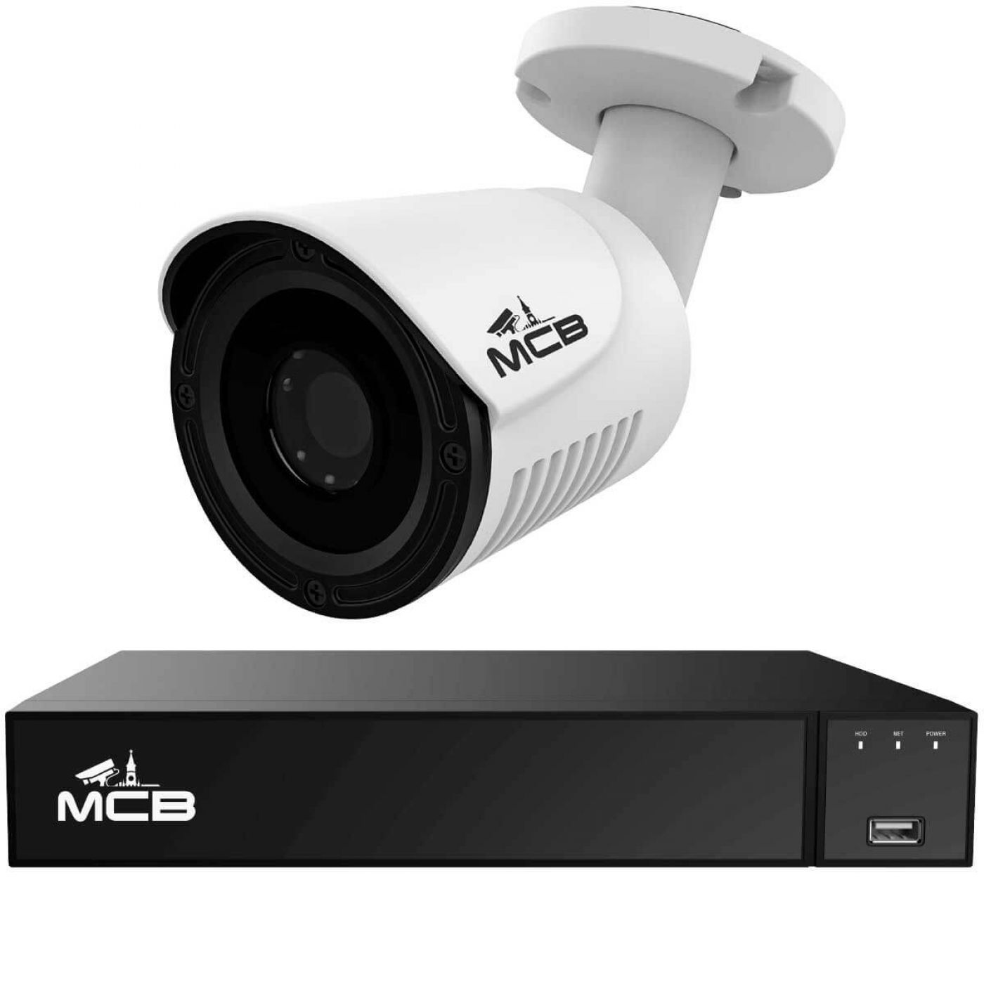 Комплект видеонаблюдения на 1 уличную 2-х мегапиксельную камеру Full HD