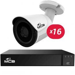 Комплект видеонаблюдения на 16 уличных 5-мегапиксельных камеры