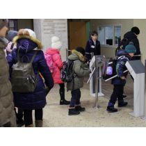 Установка турникета в школе