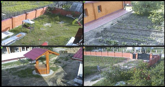 Установка видеонаблюдения на дачном участке