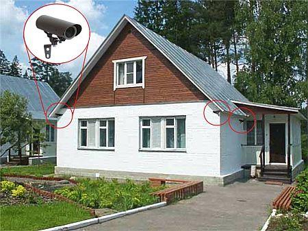 Монтаж видеонаблюдения на даче
